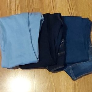 3 Pairs of high waisted jeans
